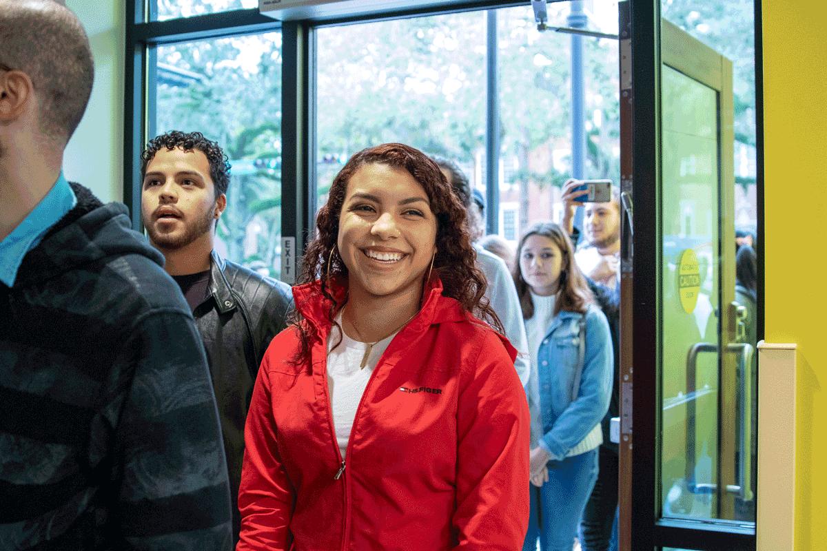 Students coming to the new La Casita institute